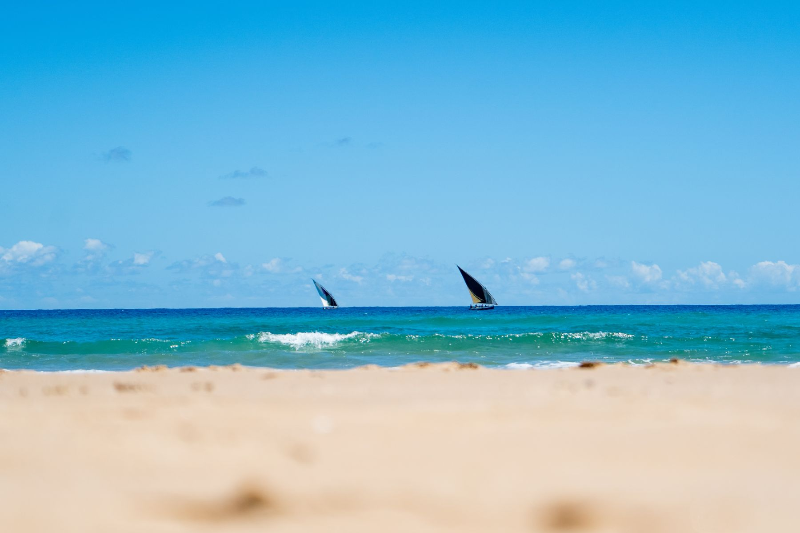 Eclectic Beach Retreat sailing
